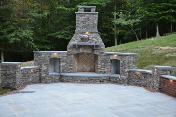 Stone-Veneered-Fire-Place-and-Blue-Stone-Patio